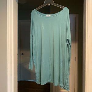 Piko long sleeve light blue  dress
